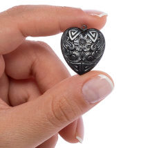 Vintaj 25X21.5mm 1 Adet Taş Kalpli Takı Aksesuarı