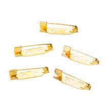 Hobium 5 Adet Orta Çift Delikli Altın Rengi Broş İğnesi