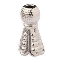 Hobium Küçük Gümüş Rengi Metal Tesbih İmamesi