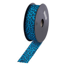 Bead Smith 4cm 2 M Mavi Leopar Elastik Bant - Lyc278