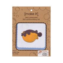 Duftin Make it 14x13 cm Kirpi Balığı Keçe Kiti - 585175