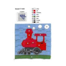 Duftin 15x15 cm Tren Desenli Uzun İşleme Nakış Kiti - 17008-HU0348