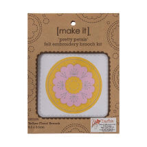 Duftin Make it 8,5x8,5 cm Sarı Broş Keçe Nakışı Kiti - 585186