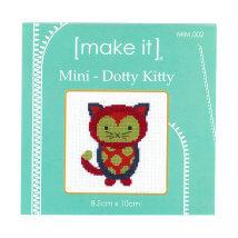 Duftin Make it 10x10 cm Kedi Desenli Mini Etamin Kiti - MIM002