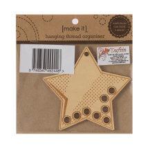 Duftin Make it 10,5x10 cm Yıldız Şeklinde Ahşap İplik Organizatörü - 585181