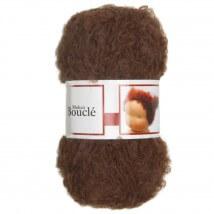 De Witte Engel Boucle 50 gram Kahverengi Bebek Saçı Örgü İpi  - H04581