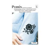 Permin 7x9 cm Siyah Çiçek Desenli Suda Eriyebilen Etamin Kiti - 795812