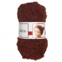 De Witte Engel Boucle 50 gram Kızıl Kahve Bebek Saçı Örgü İpi  - H04570