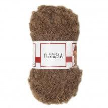 De Witte Engel Boucle 50 gram Açık Kahverengi Bebek Saçı Örgü İpi  - H04550