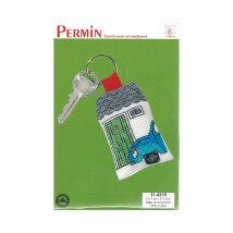 Permin 5x7 cm Ev ve Araba Desenli Anahtarlık Etamin Kiti - 114315
