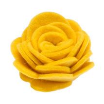 La Mia 3x6x3.5 cm 10'lu Sarı Gül Keçe Motifler- F249 - 09
