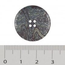 Hobium Büyük Boy Simli Mavi Fantazi Düğme