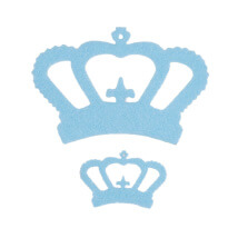 La Mia 10'lu Açık Mavi Taç Keçe Motifler - FS314-M39
