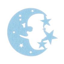 La Mia 5.5x6 cm 10'lu Açık Mavi Aydede Keçe Motifler - FS300-M39