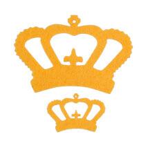 La Mia 10'lu Koyu Sarı Taç Keçe Motifler - FS314-M16