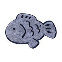 La Mia 5x7 cm 5'li Gri Balık Keçe Motifler - F216 - M70