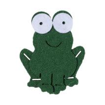 La Mia 7x5.5 cm 10'lu Yeşil Kurbağa Keçe Motifler