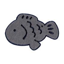 La Mia 5x7 cm 5'li Kırçıllı Gri Balık Keçe Motifler - F216 - M71