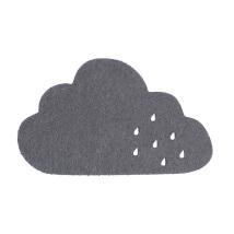La Mia 12x7 cm 10'lu Koyu Gri Bulut Keçe Motifler - M71