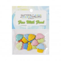 Kartopu Cupcake Şeklinde Dekoratif Düğme - 4023