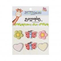 Kartopu Kelebek Kalp Çiçek Şeklinde Dekoratif Düğme - BZ102