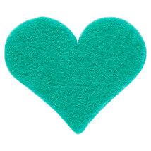 La Mia 2.5x2.3 cm 25'li Mint Yeşili Orta Boy Kalp Keçe Motifler - FS308-M59