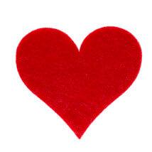 La Mia 3.5x4 cm 25'li Kırmızı Büyük Boy Kalp Keçe Motifler FS309-M13