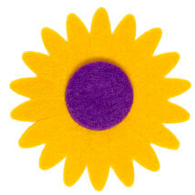 La Mia 7x7 cm 25'li Sarı Ayçiçek Keçe Motifler - CS201