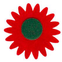 La Mia 7x7 cm 25'li Kırmızı Ayçiçek Keçe Motifler - CS201