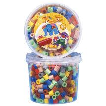 Hama Beads Maxi 600'lük 7 Karışık Renk Kavanoz Boncuk - 8573