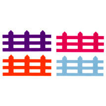 La Mia 8x19 cm Hobikeçe 10'lu Karışık Renk Çit Keçe Motifler