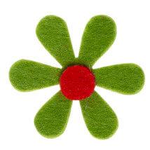 La Mia 4.5x4.5 cm 25'li Fıstık Yeşil Papatya Keçe Motifler - C203