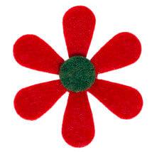 La Mia 25'li Kırmızı Papatya Keçe Motifler - C203