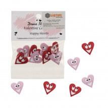 Kartopu Gülen Kalpli Dekoratif Düğme - 7706