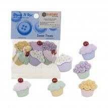 Kartopu Cupcake Şeklinde Dekoratif Düğme - 4814