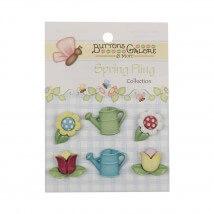 Kartopu Çiçek Seti Şekilli Dekoratif Düğme - SF103