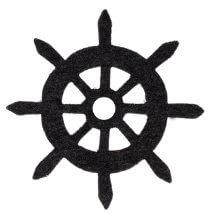 La Mia 6x6 cm 25'li Siyah Dümen Keçe Motifler - FS321-M01