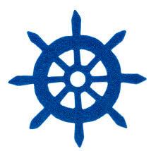 La Mia 6x6 cm 25'li Saks Mavi Dümen Keçe Motifler - FS321-M47