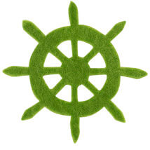 La Mia 6x6 cm 25'li Fıstık Yeşil Dümen Keçe Motifler - FS321-M53