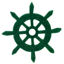 La Mia 6x6 cm 25'li Zümrüt Yeşil Dümen Keçe Motifler - FS321-M58