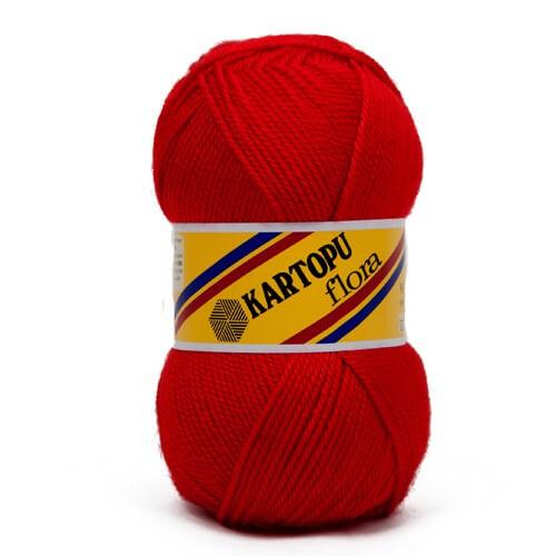 Kartopu Flora Kırmızı El Örgü İpi - K150