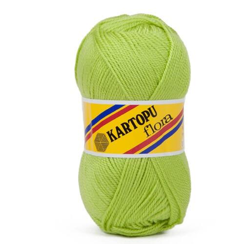 Kartopu Flora Fıstık Yeşili El Örgü İpi - K369