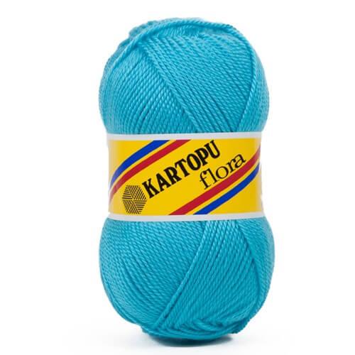 Kartopu Flora Mavi El Örgü İpi - K515