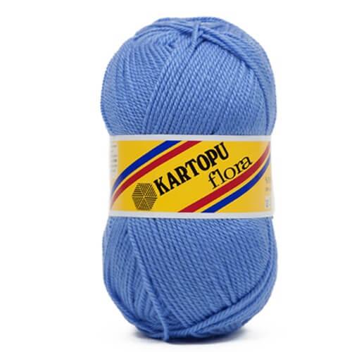 Kartopu Flora Mavi El Örgü İpi - K535