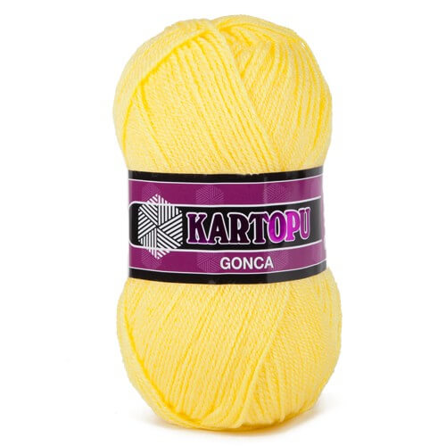 Kartopu Gonca Sarı El Örgü İpi - K330