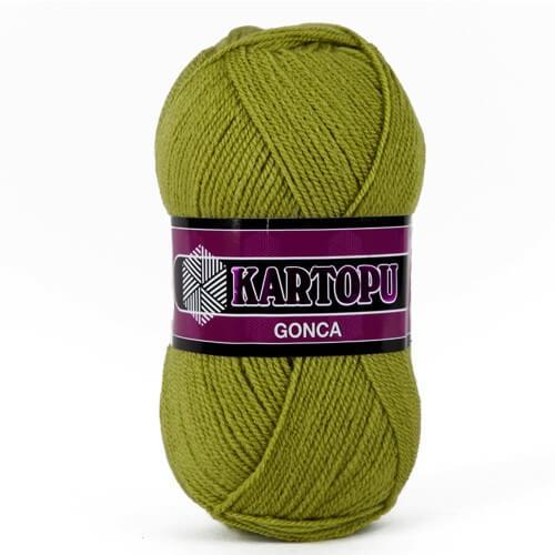 Kartopu Gonca Zeytin Yeşili El Örgü İpi - K442