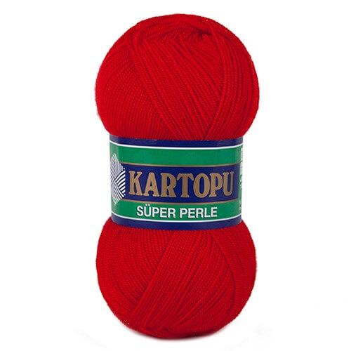 Kartopu 5'li Paket Süper Perle Kırmızı El Örgü İpi - K150