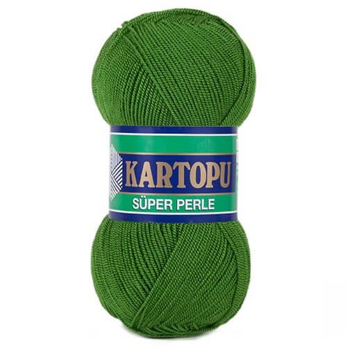 Kartopu Süper Perle Yeşil El Örgü İpi - K392