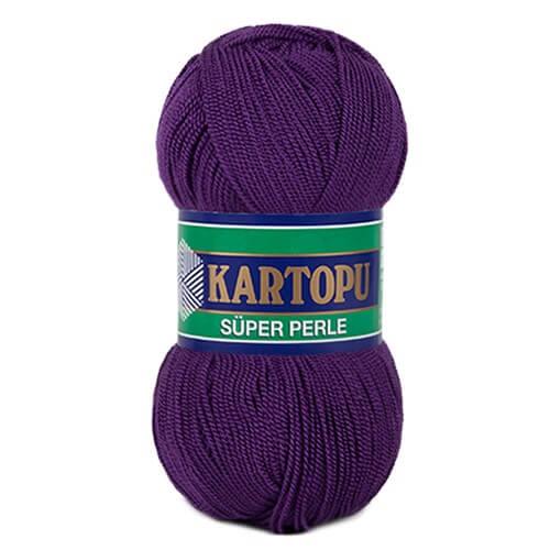 Kartopu 5'li Paket Süper Perle Patlıcan Moru El Örgü İpi - K725