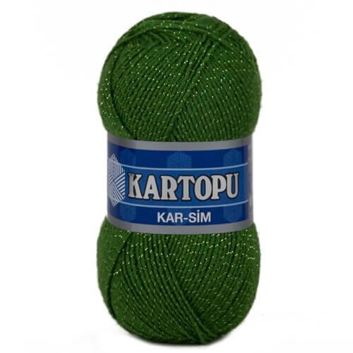 Kartopu 5'li paket Kar-Sim Yeşil El Örgü İpi - K392